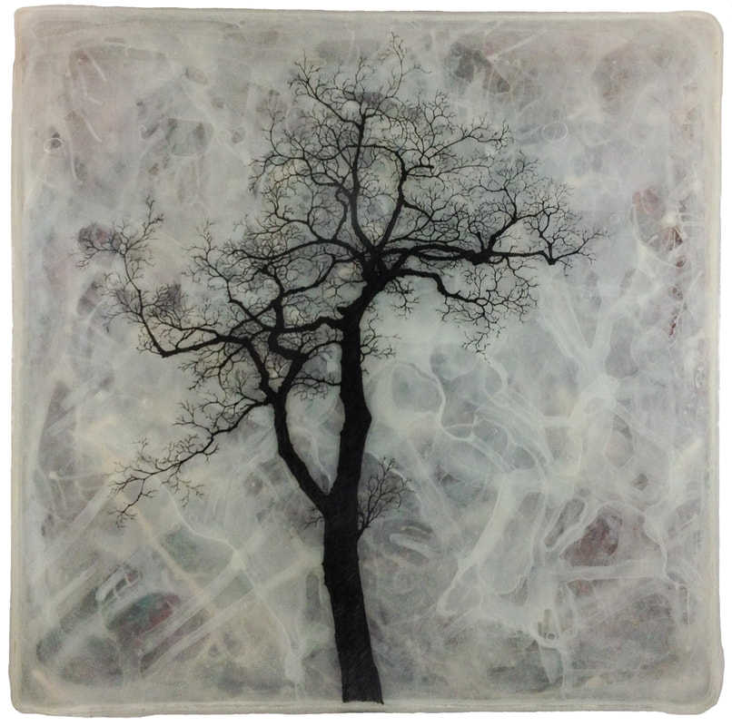 Untitled Tree Drawing in Epoxy and Paint #3.