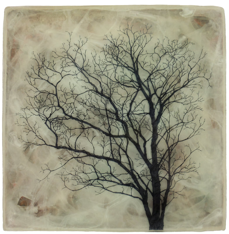 Untitled Tree Drawing in Epoxy and Paint #5.